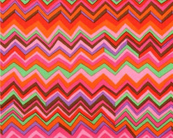red Chevron zig zag laminate fabric Westminster Fibers - laminated pattern fabric 'Zig Zag' by Brandon Mably with jagged pattern