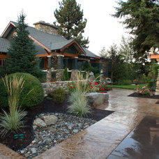 Asian Exterior by Alderwood Landscaping