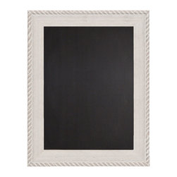 "Enchante Accessories Inc - Decorative  Wood Framed Chalkboard 22"" x 28"" (Distressed White) - This message board features a distressed wooden framed chalkboard."