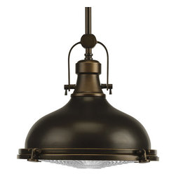 Progress Lighting - Progress Lighting P5188-108 Fresnel Lens Series Single-Light Down Lighting - This transitional, Classic family offers industrial roots in form and function. Antique inspired fresnel glass lens, finished in Oil Rubbed Bronze or Brushed Nickel.Features: