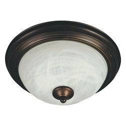 Maxim Lighting - Maxim Lighting 85841MROI Flush Mount Energy Efficient 2 Light Flush Mounts - This 2 light Flush Mount from the Flush Mount Energy Efficient collection by Maxim will enhance your home with a perfect mix of form and function. The features include a Oil Rubbed Bronze finish applied by experts. This item qualifies for free shipping!