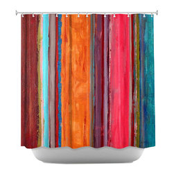 DiaNoche Designs - Shower Curtain Artistic - Feel Good - DiaNoche Designs works with artists from around the world to bring unique, artistic products to decorate all aspects of your home.  Our designer Shower Curtains will be the talk of every guest to visit your bathroom!  Our Shower Curtains have Sewn reinforced holes for curtain rings, Shower Curtain Rings Not Included.  Dye Sublimation printing adheres the ink to the material for long life and durability. Machine Wash upon arrival for maximum softness. Made in USA.  Shower Curtain Rings Not Included.