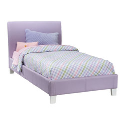 Standard Furniture - Standard Furniture Fantasia Upholstered Platform Bed in Lavender - Twin - Upholstered Platform bed in Lavender belongs to Fantasia collection by Standard Furniture. Luxurious padded beds are upholstered in a smooth vinyl that comes in a choice of three colors, green, lavender and pink. Sizeable headboard allows space for decorative pillows. Green, lavender and pink finishes.