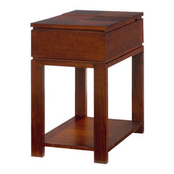 Hammary - Hammary Chairsides Lift-Lid Storage Chairside Table in Cherry - Lift-Lid Storage Chairside Table in Cherry Belongs to Chairsides Collection by Hammary