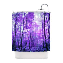 "Kess InHouse - Iris Lehnhardt ""Magic Woods"" Purple Forest Shower Curtain - Finally waterproof artwork for the bathroom, otherwise known as our limited edition Kess InHouse shower curtain. This shower curtain is so artistic and inventive, you'd better get used to dropping the soap. We're so lucky to have so many wonderful artists that you'll probably want to order more than one and switch them every season. You're sure to impress your guests with your bathroom gallery in addition to your loveable shower singing."