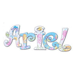 RR - Ariel Sea Life Hand Painted Wall Letters - Ariel's Sea Life Hand Painted Wall Letters