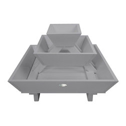 Esschert Design - Pyramid Flower Box, Grey - Expand in the farm folklore collection to make any garden appeal with a country cottage setting! These pyramid planters are perfect for shrubs, plants, flowers or anything else your green thumbs choose to grow!