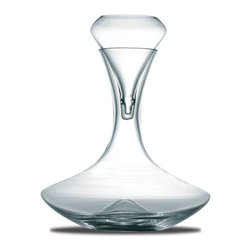 "Peugeot - Peugeot Grand Bouquet Decanter with Aerator - 10.9""/26 oz. - Prior to maturity, a young red wine can be quickly awakened by aerating, forcing a maximum exposure to air. This hand-blown glass aerating set features the Tulipe aerating funnel, which has holes on either side of its tip to force the wine being poured through it onto the sides of the decanter. Capacity is suitable for a standard 750ml bottle of wine."