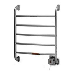 Warmrails - Warmrails Regent Wall Mounted Towel Warmer (Satin Nickel) - Finish: Satin Nickel. Includes all hardware and instructions. Wall mounted. Hardwired and softwired combination. Illuminated On/Off switch. Filatherm dry element, 46 watt rating, 120v AC. UL and cUL listedSoftwired Version:. Plug-in, minimal installation. Plugs into standard electrical outlet. 7 ft. power cord, entry on right sideHardwired Version:. Professional installation. Direct wired to standard electrical wall box. 18.63 in. W x 5.25 in. D x 25.25 H. Instruction Manual