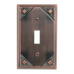 Atlas Homewares - Copper Craftsman Single Toggle Switchplates (ATHMSTC) - Copper Craftsman Single Toggle Switchplates