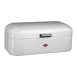 Wesco - Wesco Grandy Bread/Storage Box, White - Show your loaves some love. This powder-coated steel box boasts ventilation perforations to keep bread, cake and other goodies fresh and tasty. It's designed for baked goods, but its retro-classic style is so cool that you might choose to use it for storage anywhere.
