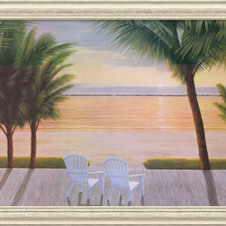 Amanti Art - Palm Bay Dreaming Framed Print by Diane Romanello - Romanello has created a style of her own by using composition to draw viewers into her paintings. Her imagery is always open, inviting onlookers to glide right into her peaceful scenery.