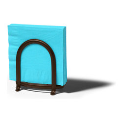 Spectrum Diversified Designs - Ashley Napkin Holder - Bronze - From the Ashley Collection, this napkin holder keeps napkins neat, stacked and contained. Made of sturdy steel with a black finish.