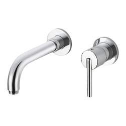 Delta Wall Mount Lavatory Faucet - 3559LF-WL - The design was inspired by the sleek elegance of modern European design.