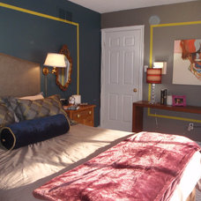 Eclectic Bedroom by Carriage Lane Design-Build Inc.