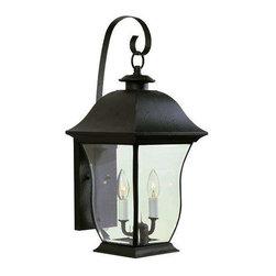 Trans Globe Lighting - Trans Globe Lighting 4970 BK Outdoor Wall Light In Black - Part Number: 4970 BK