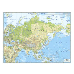 Murals Your Way - Asia 2 Wall Art - A map by EGLLC Maps, the Asia wall mural from Murals Your Way will add a distinctive touch to any room