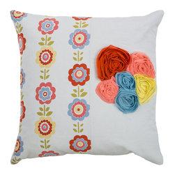 """Rizzy - Rizzy T06877 Pillow, 18"""" x 18"""" - Pillow with Hidden Zipper"""