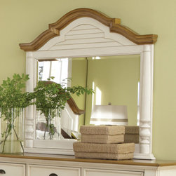 Coaster - Oleta Mirror in Buttermilk/Brown Finish - Create a beautiful focal point for your master bedroom with the stunning Oleta bedroom collection. Matching pieces are finished in country white with gorgeous oak-tone tops. Enjoy a calm and tranquil setting while you relax in bed with a morning cup of coffee with help from the Oleta collection.
