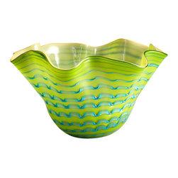 Cyan Design - Glasgow Bowl-05162 - Large glasgow bowl - green and blue