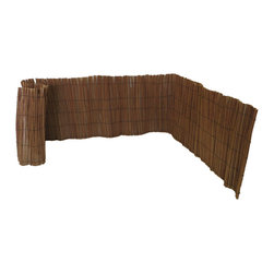 "Master Garden Products - Peeled Willow Border Fence, 24""H x 96""L - Rolled willow border is an economic way of separating areas in your garden or pathway. They also make delightful borders for a flower bed or any area you may want to divide or section off in your garden. Available in peeled carbonized classic willow. The willow borders can be installed easily, just unroll them and tie them to the cedar wood sticks planted into the ground."