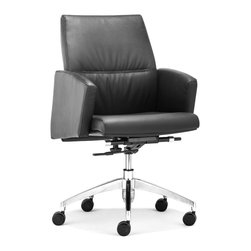 ZUO MODERN - Chieftain Low Back Office Chair Black - Chieftain Low Back Office Chair Black