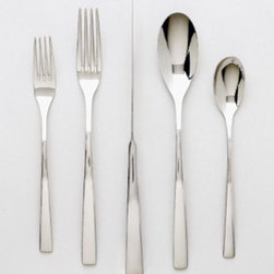 Ginkgo President Stainless Flatware - If I ever need a purely simple and modern set of cutlery, this would be my choice. These utensils will keep your table crisp and clean. The knives are definitely my favorite pieces. These are an eye-catching way to add a twist to your tabletop.