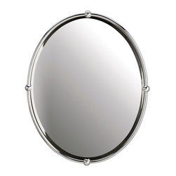 Oval Strapping Bathroom Mirror -