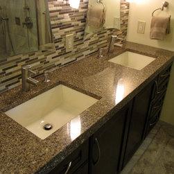 Master Bath Remod - Quartz vanity top with mitered edge