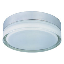 ET2 - ET2 Flux 2-Light Contemporary Flush Mount Ceiling Light X-CP10-63012E - From the Flux Collection, this clean and modern ET2 flush mount ceiling light features a Polished Chrome finish and a unique glass shade. This modern flush ceiling light comes with an extra thick walled clear glass diffuser with a white coating on the interior that creates a more evenly diffused light.