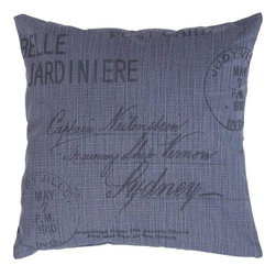 Benzara - Decorative Pillow Accentuated with Bold Black Lettering - Spruce up the look of your room interiors with this fabric pillow. It is crafted with premium grade cotton fabric and ensures a durable use. The soft, smooth texture of the pillow fabric is accentuated with bold black lettering. The elaborate print on the pillow fabric perfectly complements the blue color and lends a touch of sophistication to settings. Give your room a modern and contemporary look with this fabric pillow. The vibrant color of the pillow is sure to match any modern home setting.