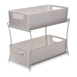 Classics - Two Tier Sliding Basket Organizer - Organize any cabinet ...