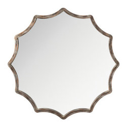 """Kichler - Kichler 78160 Silver Scallop 34"""" Height Mirror - Kichler 78160 Silver Scallop 34"""" Height MirrorThis handsome circular mirror has a Distressed Antique Silver scalloped edged frame.Kichler 78160 Features:"""