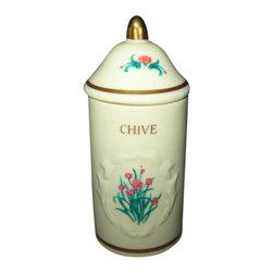 Lenox - Lenox Spice Garden (Giftware) Spice Jar - Chive - Lenox Spice Garden (Giftware) Spice Jar - Chive