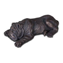 Uttermost - Nap Time Cast Iron Puppy Figurine - If only all puppies were as well behaved as this one. Put him in your entryway to welcome guests or alongside your favorite armchair.