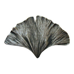 Lodge & Nature Hardware - Ginkgo Leaf Knob in Antique Pewter from Notting Hill Decorative Hardware
