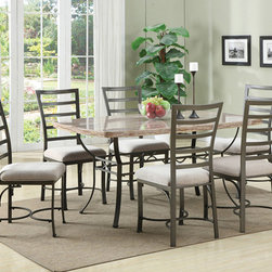 None - Val Side Chair (Set of 2) - Update your home with style and comfort with this Val Side Chair Set. These chairs feature a sturdy metal construction.
