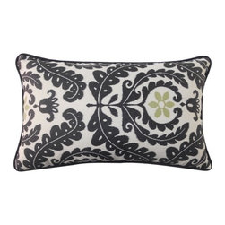 Jiti Pillows - Shine Rectangle Pillow - Features: -Material: 100% Polyester. -Piping edge. -100% Fiber insert. -Removable cover. -Used for outdoor. -Machine wash. -Low tumble dry. -Made in the USA.