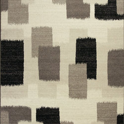 "KAS - KAS Reflections 7413 Palette (Black, White) 6'7"" x 9'6"" Rug - This Machine Made rug would make a great addition to any room in the house. The plush feel and durability of this rug will make it a must for your home. Free Shipping - Quick Delivery - Satisfaction Guaranteed"