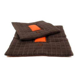 Waffle Dog Bed - The Waffle Dog Bed is a stylish and durable bed that will provide your pet with year-round comfort. Stylish coffee and orange colors make this bed a great fit for modern settings while the check-stitching delivers quilted suede-like comfort. A blend of soft cotton and smooth nylon fabrics filled with supportive polyester will keep your pet cool in the summer and warm in the winter. A machine-washable design makes it easy to keep this bed looking its best.This dog bed is available in the following sizes:Medium: 31.5L x 31.5W x 1.5H inchesLarge: 39L x 39W x 1.5H inchesAbout the ManufacturerPet Ego delivers a pet owner's total service package that combines practical pet solutions with sleek Italian style. Based in the United States it is able to deal directly with discerning customers and pet supply retailers. Pet Ego works on an individual basis and gives personal attention to all customers' specific needs. Pet Ego's ability to form a close connection with clients allows it to eliminate third-party importers and other outside complications that might otherwise compromise a satisfying experience for you and your pet.