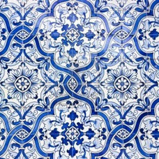 Typical Portuguese Tiles, Azulejos With Pattern Royalty Free Stock Photo, Pictur