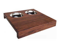 NMN Designs - Ciocco Tapas Board - A unique, charming wooden snack board and bowl set, perfect for entertaining guests with cheeses, crackers, and any variety of sauces, dips, and spreads. Board made of Walnut, finished with natural, non-toxic mineral oil that highlights the natural wood grains. Handcrafted in USA.