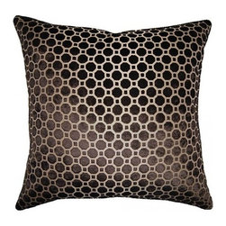 Squarefeathers - On The Move, Dots Pillow - The On the Move Collection is the perfect addition to your home this Fall. Warm up to stripes and dots in chocolate brown and tan. Made of polyester and rayon with rope trim. It has a soft and pump feataher/down insert inclosed with a zipper. Like all of our products, this pillow is handmade, made to order exclusively in our studio right here in the USA.