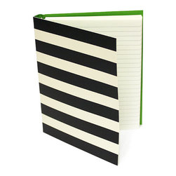"Kate Spade - Kate Spade Black Stripe Spiral Notebook - Pretty Pretty Pretty is all we can say about this notebook to keep your thoughts, ideas and notes. You'll be inspired. 112 Lined Pages-8""H X 6""W"
