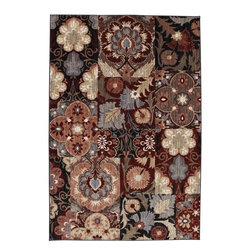 "American Rug Craftsmen - Dryden Elisabetta Multi Floral Patchwork 9'6"" x 12'11"" American Rug Craftsmen - Our Dryden Collection is the ultimate combination of style, comfort and durability. This collection impresses those who demand fashionable style with patterns including: tribal kilims, modern ikats, and Moroccan tile patterns. Made from our softest and most talked about fiber, SmartStrand, this collection is carefully crafted using 2-ply space dyed yarns, providing 24 shades of color. Every new SmartStrand area rug comes with a lifetime stain and soil warranty. Manufactured entirely in the United States, American Rug Craftsmen"