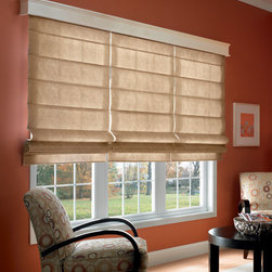 Bali - Bali Casual Classics Roman Shades: Fiddlestix - The Fiddlestix collection features textured, elegant leaf and stem patterns.  Casual Classics Roman shades offer the softness of a drapery with the practicality of a shade.