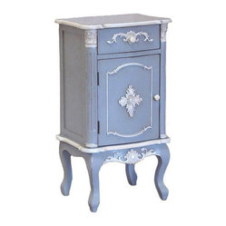Shabby Chic French Blue Bedside Table