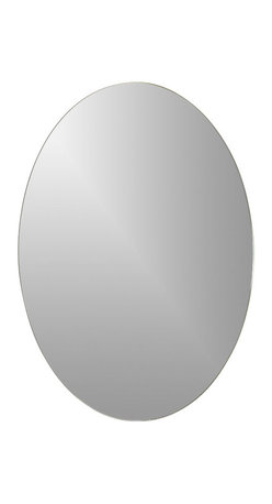 """Decor Wonderland Mirrors - Decor Wonderland Odelia Oval Bevel Frameless Wall Mirror - Renew and revitalize your bathroom with this oval frameless bathroom mirror featuring a 1"""" bevel. Add a touch of modern style to your wall with the Odelia oval beveled frameless wall mirror measuring 28 x 22 suit to fit small to medium sized spaces."""