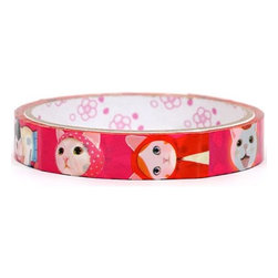 cute pink cats Deco Tape kawaii - pink Cats Deco Tape