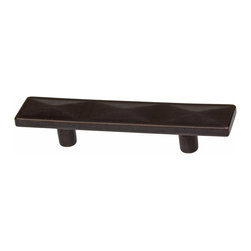 """GlideRite Hardware - GlideRite 2-1/2"""" Pyramid Cabinet Pull Oil Rubbed Bronze - Add a stylish look to your kitchen cabinets with this 2.5-inch oil rubbed bronze bin pull.  Each pull is individually packaged to prevent damage to the finish. Standard installation screws are included."""